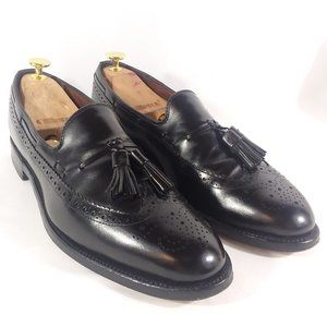 AE 'Manchester' Black Longwing Tassel Loafers 10A